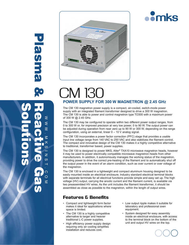Alter Cm 130 Magnetron Power Supply For 300w At Form Factor