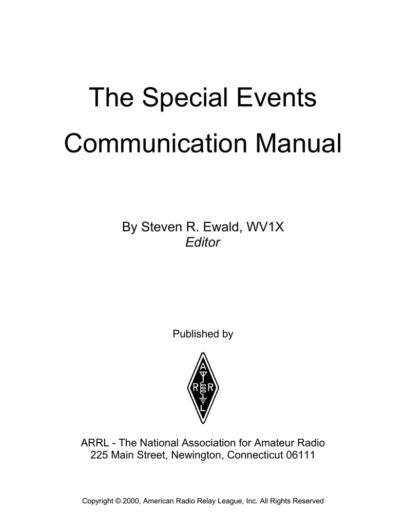The Special Events Communication Manual