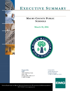 Executive Summary - Maury County Public Schools