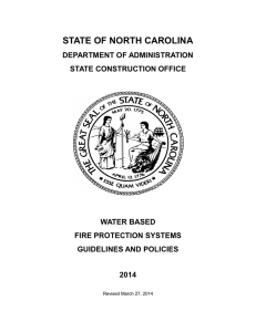 Water Based Fire Protection Systems Guidelines