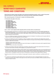 dhl express money-back guarantee terms and conditions