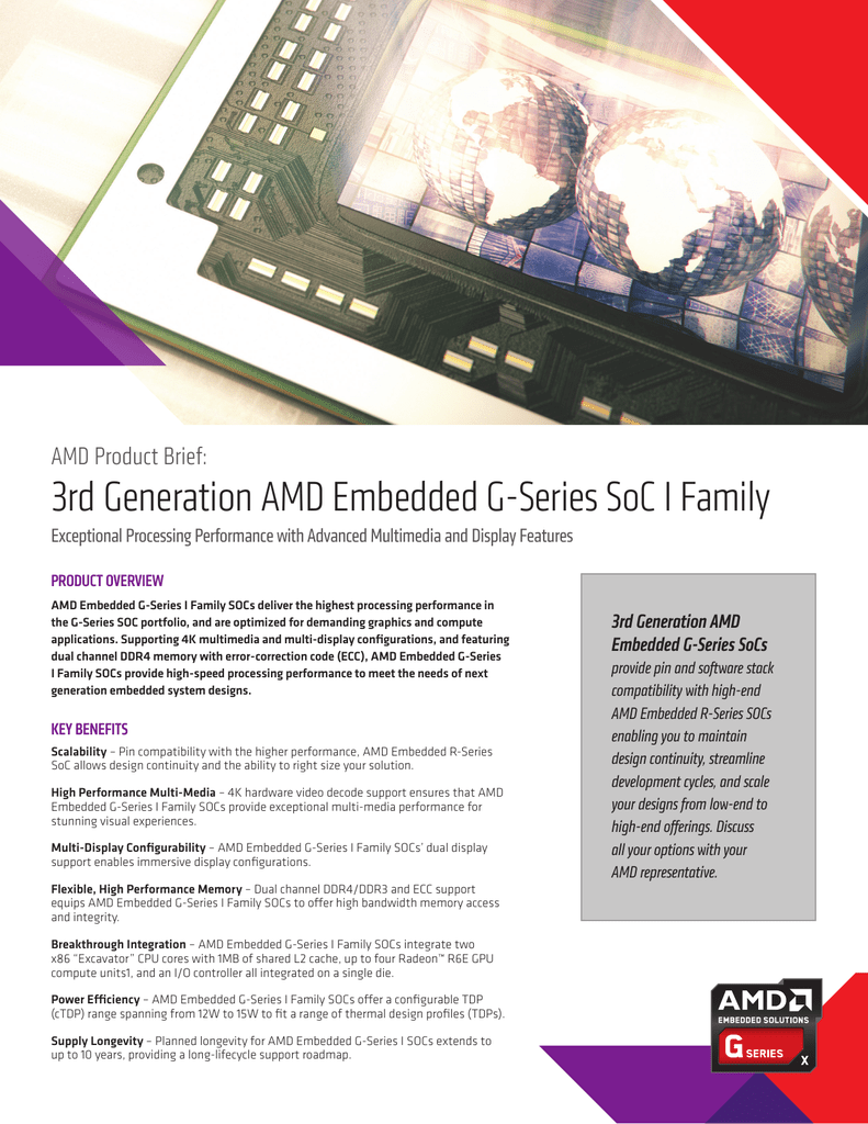 3rd Generation AMD Embedded G
