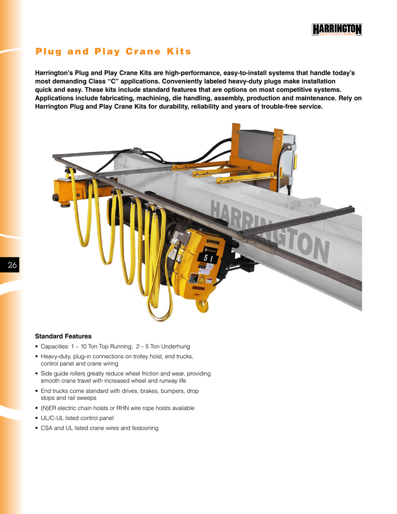 Plug and Play Crane Kits Harrington Crane Bridge Wiring Diagram on