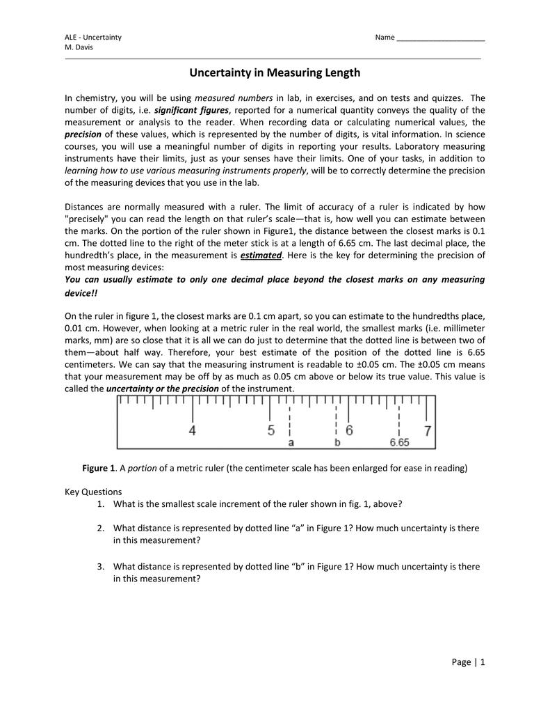 Uncertainty In Measuring Length [ 1024 x 791 Pixel ]