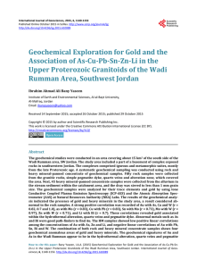 Geochemical Exploration for Gold and the Association of As-Cu