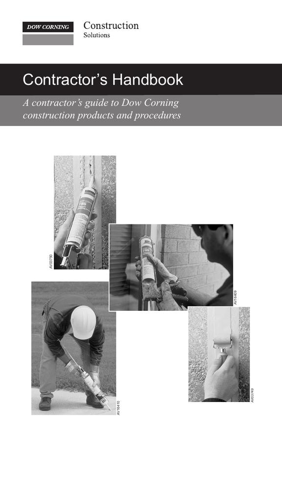 Dow Corning Contractor`s Handbook