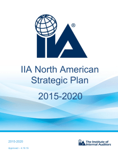 IIA North American Strategic Plan 2015-2020
