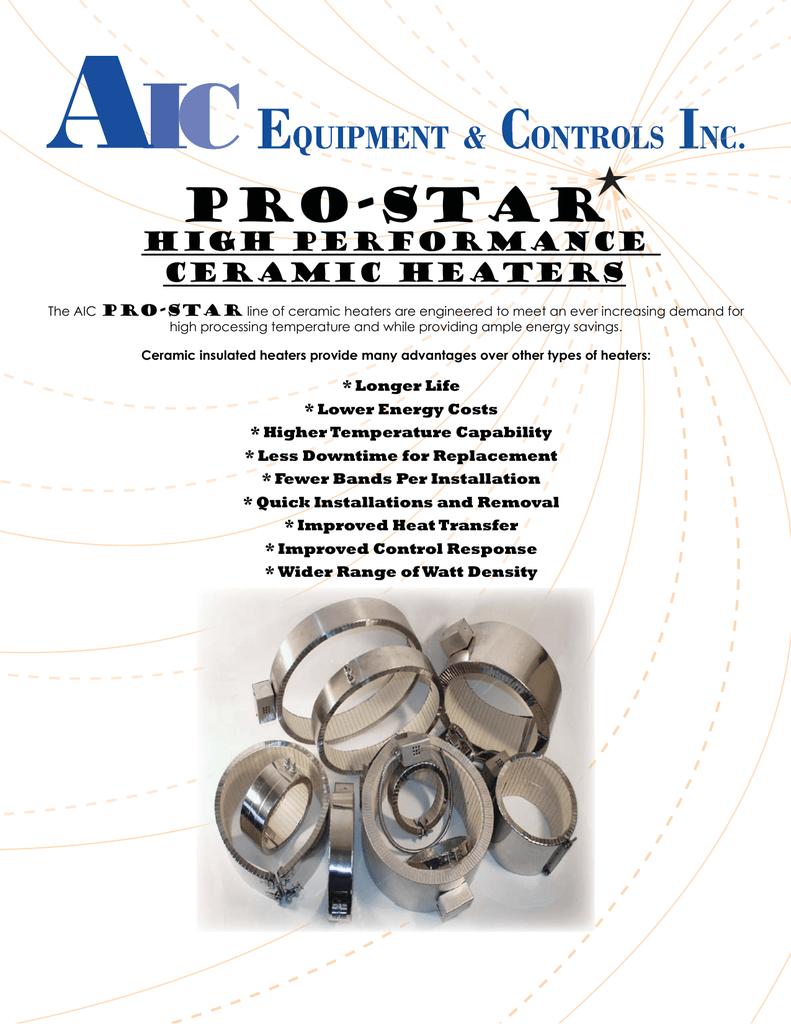 aic prostar ceramic heaters catalog indd 480 Volt 3 Phase Transformer Wiring Diagram at 240 480 Volt Heaterband Wiring Diagram