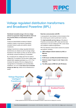 Voltage Regulated Intelligent Transformers with BPL - ppc