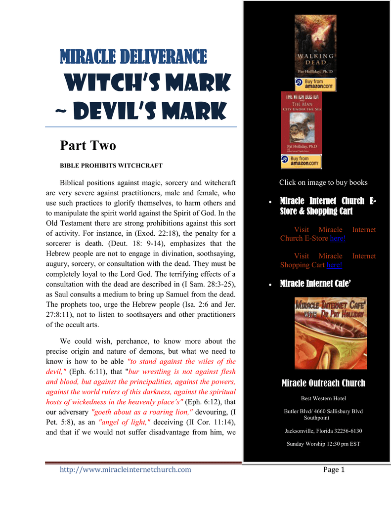 WITCH`S MARK ~ DEVIL`S MARK