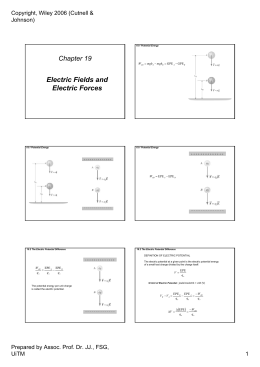 Electric Fields and Electric Forces