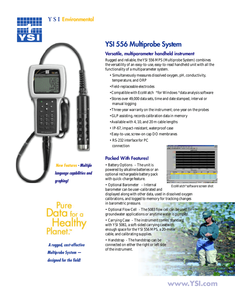 YSI 5563 10 Meter Cable for Dissolved Oxygen//Temperature//Conductivity Sensor Meter