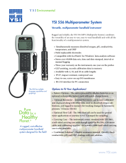 YSI 556 Multiparameter System - Fondriest Environmental, Inc.