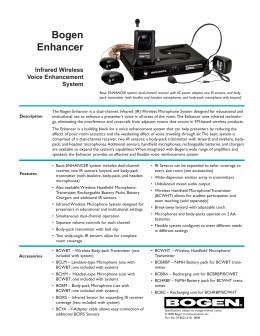 Bogen Vocal Enhancer System - Telcom