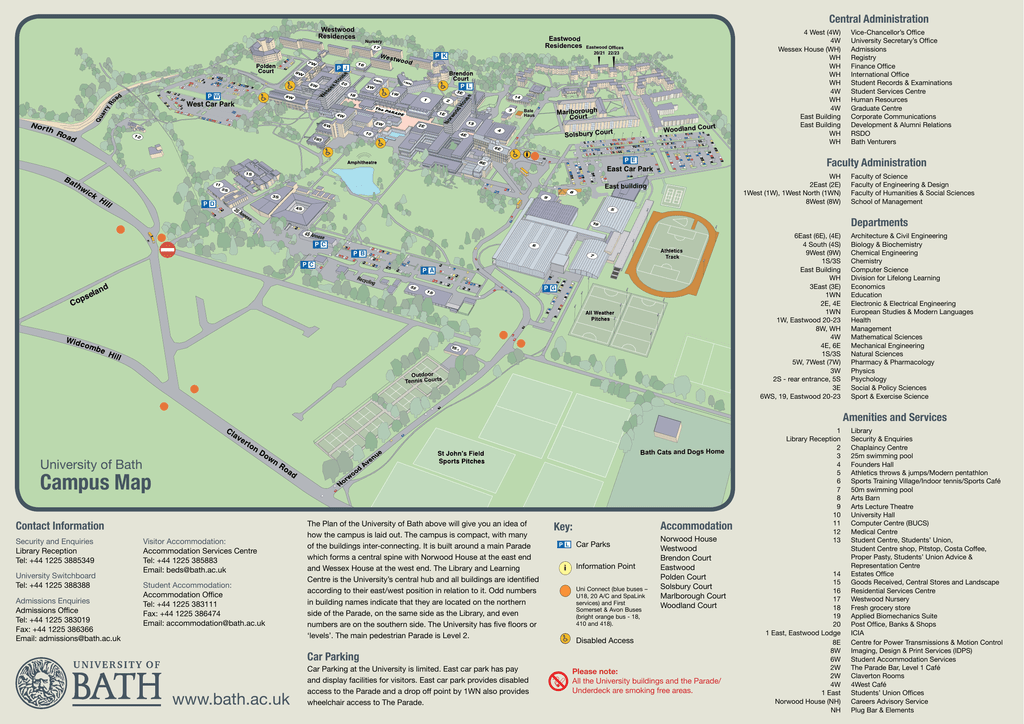Bath Uni Map Campus Map   University of Bath