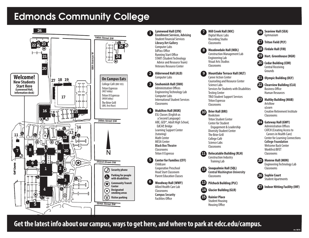 Campus Map Edmonds Community College
