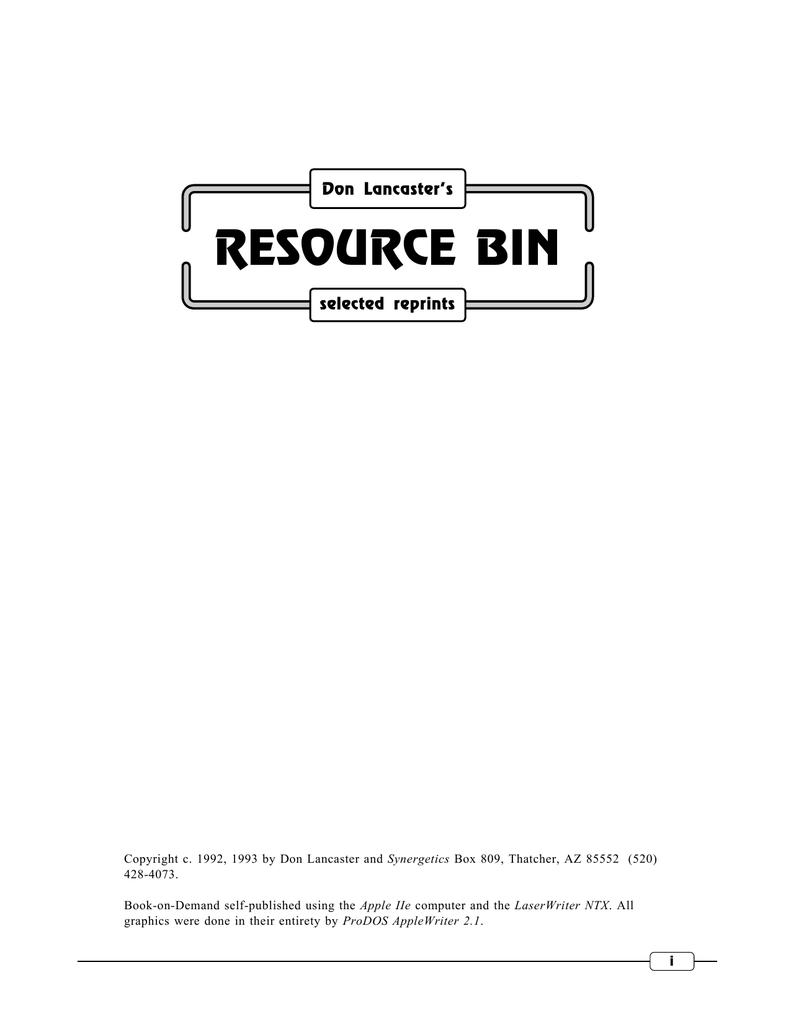 Resource Bin Don Lancasters Gurus Lair Ba1404 Stereo Encoder