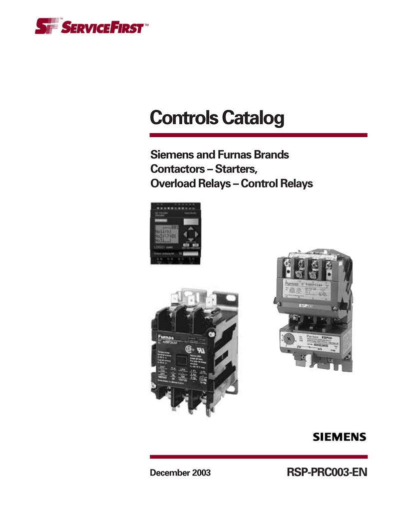 Controls Catalog Siemens And Furnas Brands Contactors