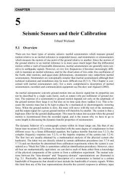 Seismic Sensors and their Calibration