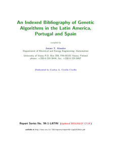 An Indexed Bibliography of Genetic Algorithms in the Latin America