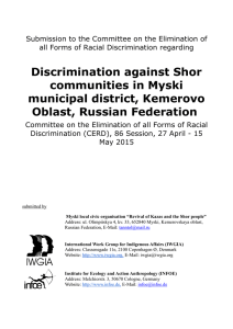 Discrimination against Shor communities in Myski