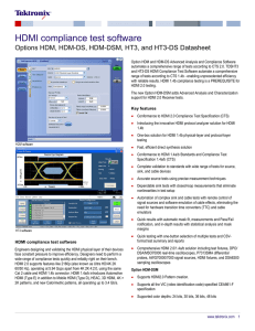 Options HDM, HDM-DS, HDM-DSM, HT3, and HT3-DS