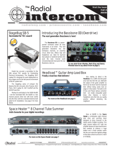 NAMM 2014 issue - Radial Engineering
