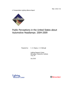 Public Perceptions in the United States about Automotive Headlamps