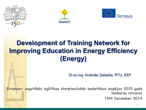 Development of Training Network for Improving Education in Energy