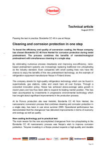 Technical article Cleaning and corrosion protection in one