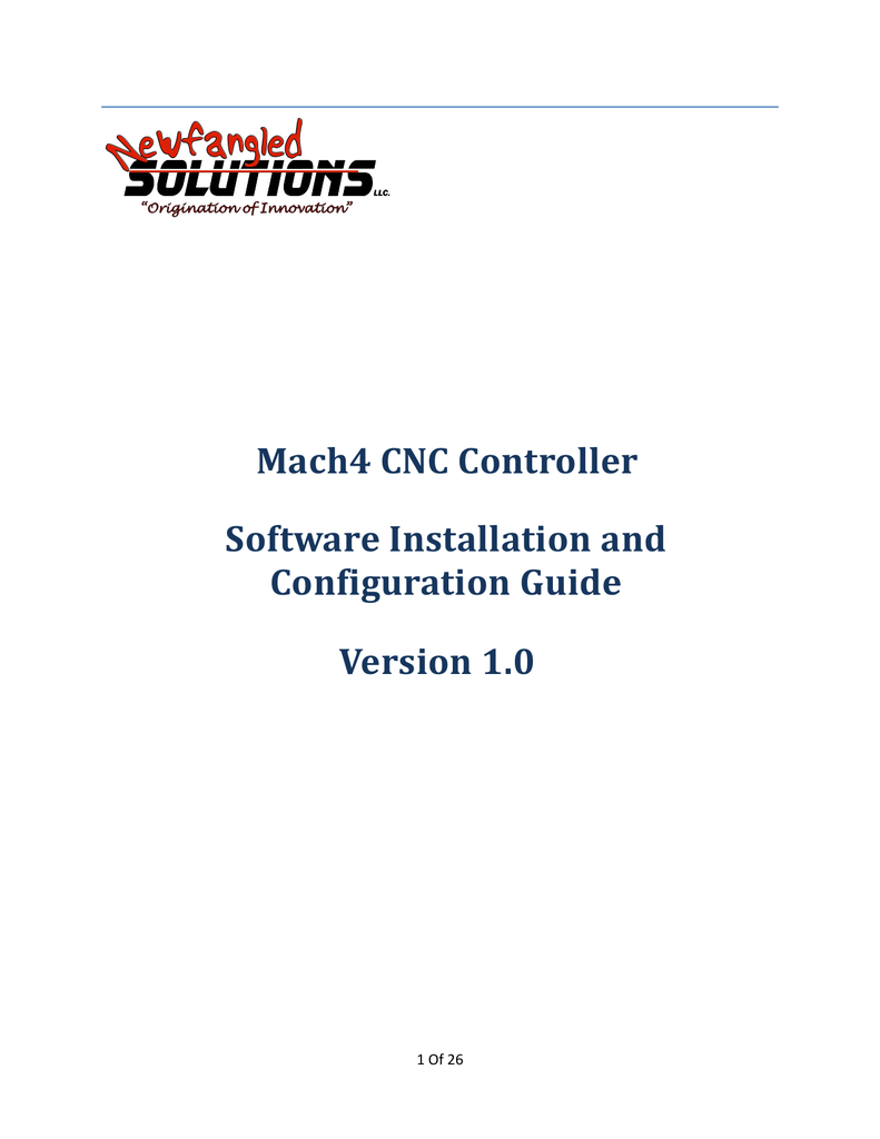 Mach4 CNC Controller Installation and Configuration on