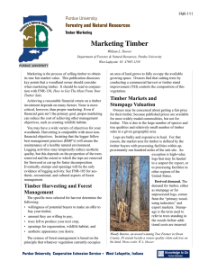 Marketing Timber - Purdue Extension