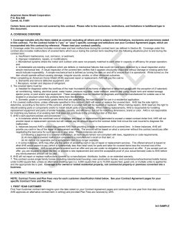 sample contract - American Home Shield
