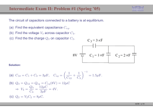 Intermediate Exam II: Problem #1 (Spring `05)