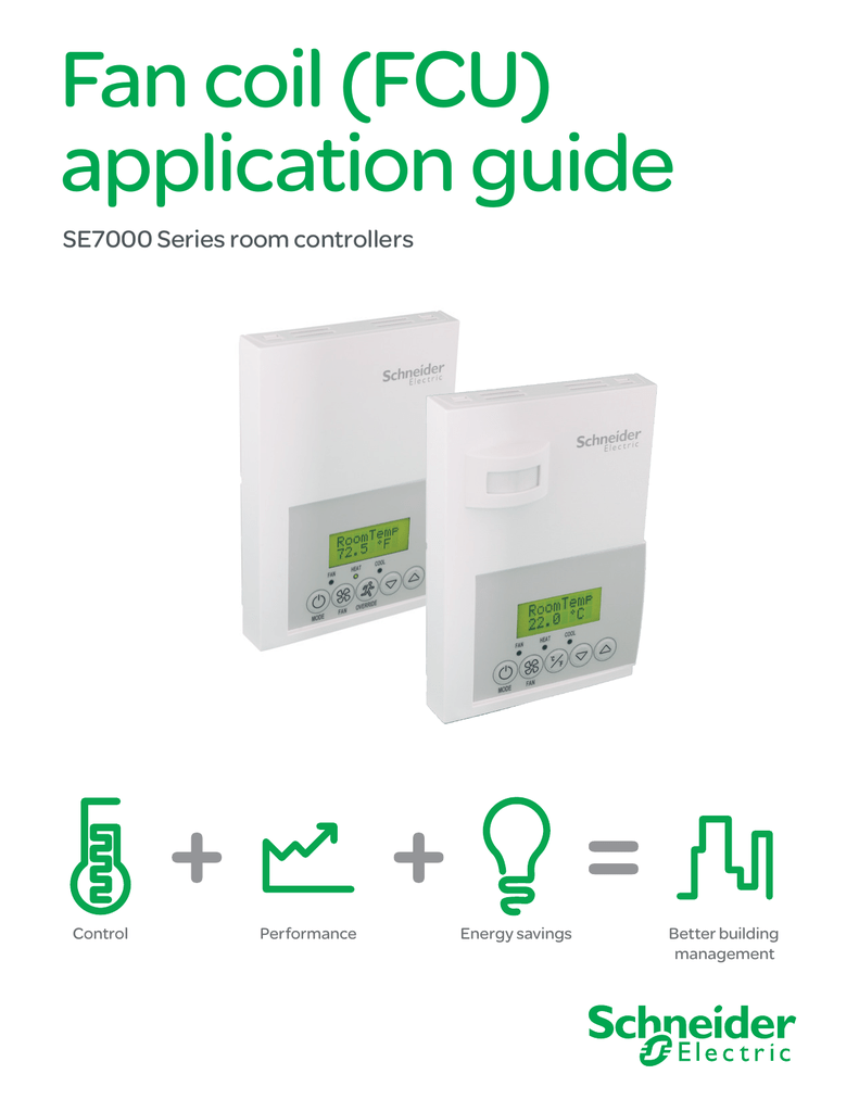 Fan Coil Fcu Application Guide Schneider Electric Buildings Iportal Relay Energy Saver