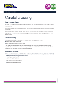 Careful crossing