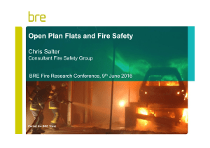 Open-plan flats and fire safety - Dr Chris Salter