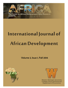 International Journal of African Development, Vol. 2, Issue 1