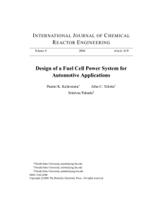 Design of a Fuel Cell Power System for Automotive Applications
