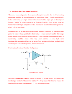 The Non-inverting Operational Amplifier: