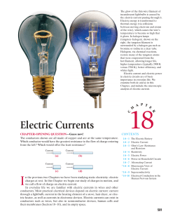 Ch 18) Electric Currents