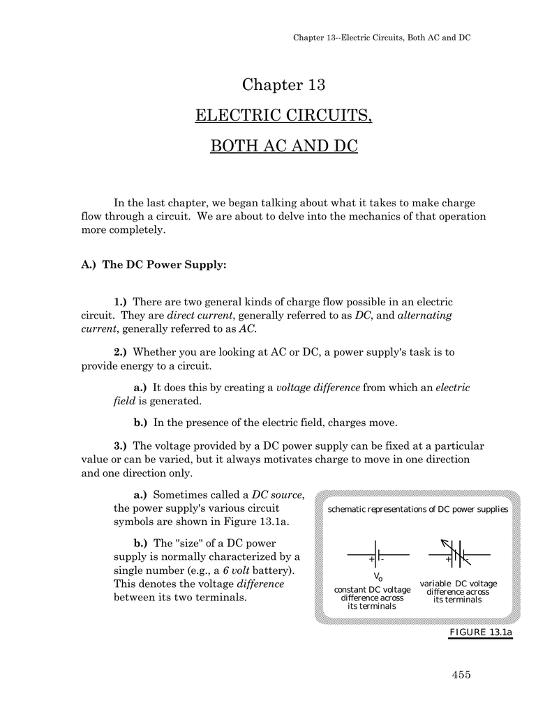 Ac Dc Circuits Polytechnic School Fixed Voltage Power Supply Circuit