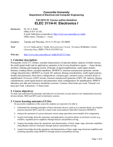 Course outline - Department of ECE