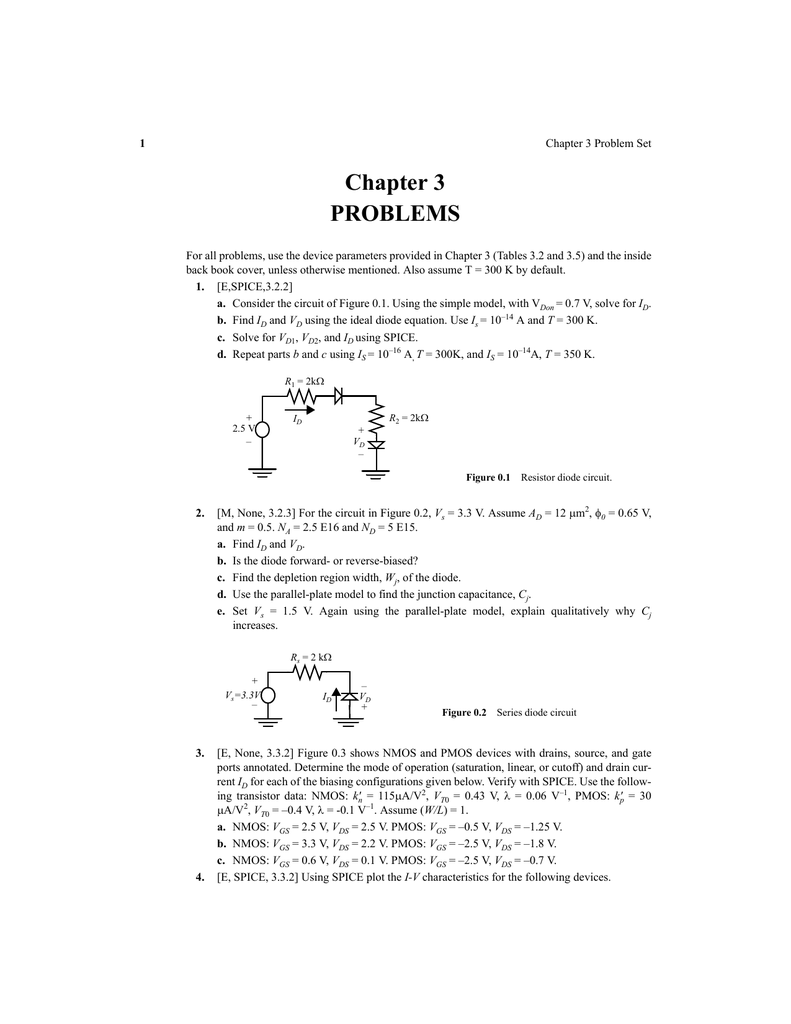 chapter 3 problems circuits and systems