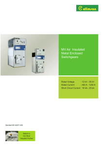 MV Air Insulated Metal Enclosed Switchgears