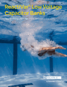 ReactiVar® Low Voltage Capacitor Banks