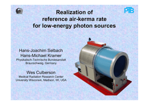 Realization of reference air-kerma rate for low