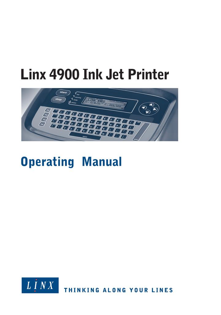 linx 4900 ink jet printer rh studylib net