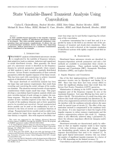 State Variable-Based Transient Analysis Using Convolution
