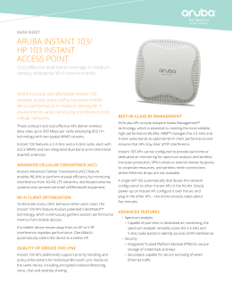 aruba instant 103/ hp 103 instant access point